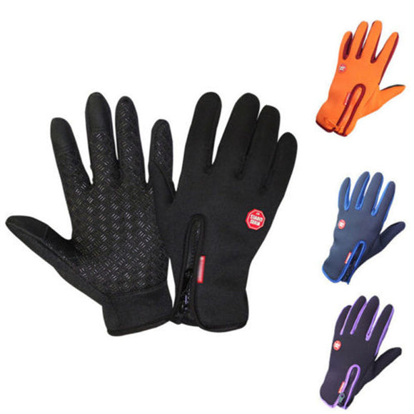 1 Pair Touch Screen Gloves Anti-slip Winter Warm Sports Cycling Skiing Windproof