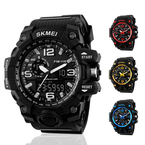 Multi-function Luminous LED Analog+Digital Waterproof Outdoor Sports Watch