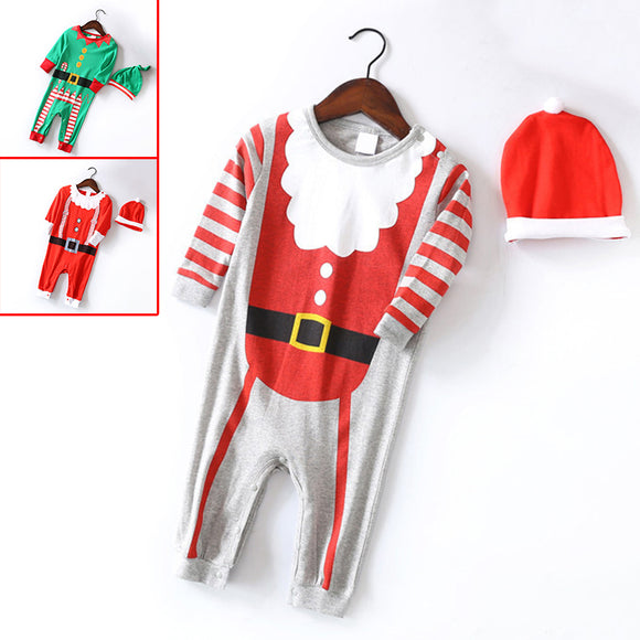 Christmas Round Neck Long Sleeve Romper Kid Child Infant for Baby Boy Girl