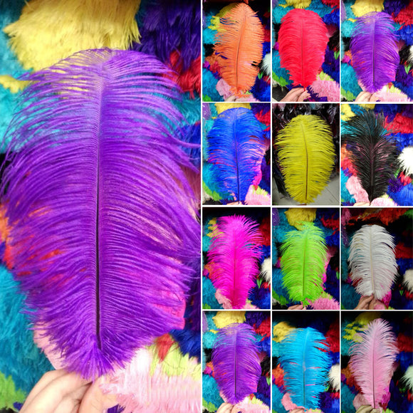 10x Set Ostrich Feathers Plume Centerpiece for Wedding Party Table Decoration