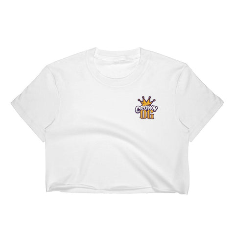 Crown OG Classic Logo Short Sleeve Cropped T-Shirt w/ Tear Away Label