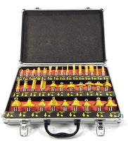 "EDM - ROUTER BITS SET - 35 pc 1/4"" inch Shank CARBIDE KIT ALUMINUM CASE SAE"