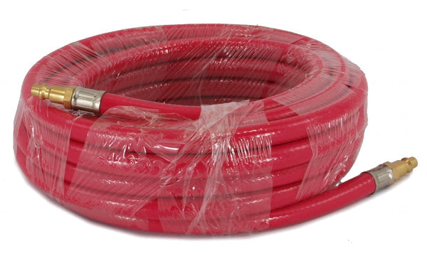 EDM - Air Compressor Rubber Hoses 25 ft, Brass fittings