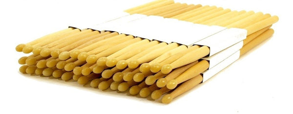 Zenison - 12 PAIRS - 7A NYLON TIP NATURAL MAPLE WOOD DRUMSTICKS