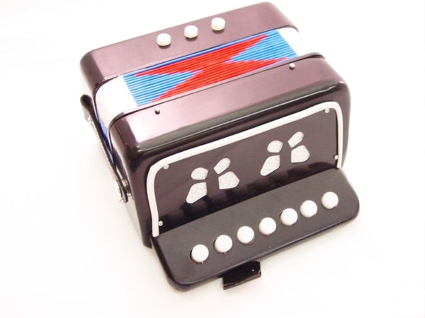 ACCORDION BLACK 7 KEY -BUTTON ORGAN (accordian) Concertina NEW