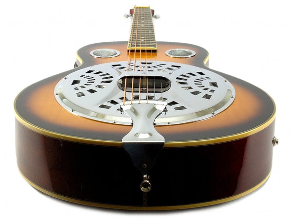 Acoustic/Electric Resonator Guitar with Steel Pan - Sepele Spruce Wood
