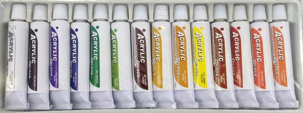 14 COLORS ACRYLIC PAINTS 12 ml each Rainbow Pigments - ARTIST PAINTING SUPPLIES