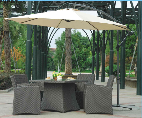 10' ft HANGING OFFSET PATIO UMBRELLA SUNSHADE Canopy Pool Deck BBQ Outdoor