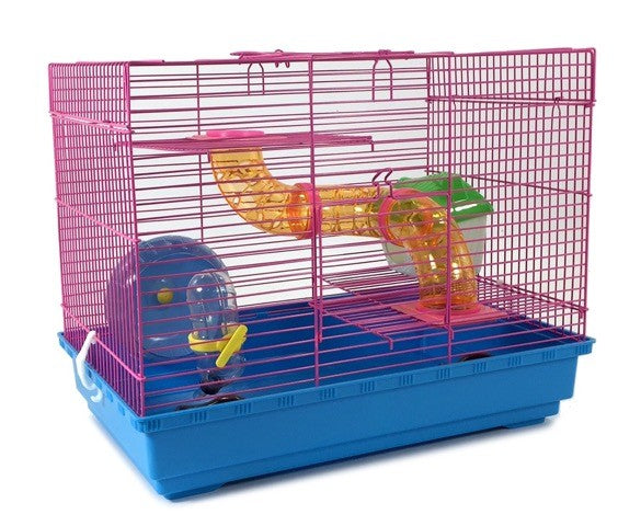 3 Level Hamster Cage Wheel Tubes House Rodents Gerbil Rat Mice Trail Habitat