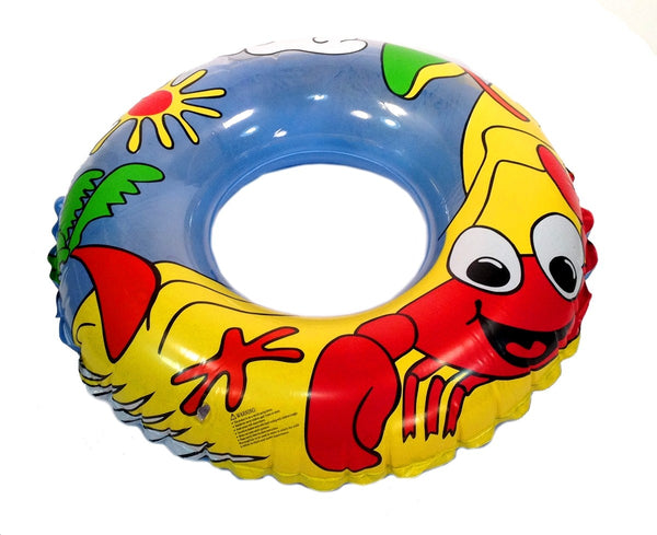 INFLATABLE SWIMMING TUBE RING - CRAB - FLOAT POOL LAKE BEACH RIVER FLOATING