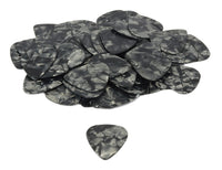 Set of 10 .71mm Guitar Picks - Black Tortoise Shell