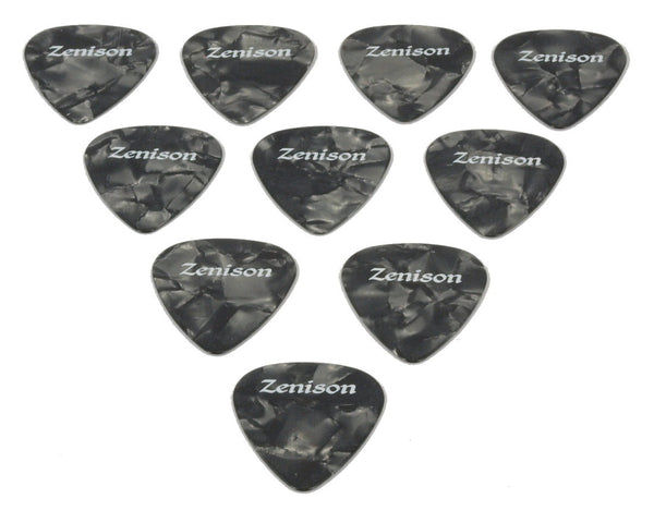 10pcs Acoustic Electric Guitar Picks Black Tortoise Shell Celluloid Medium .71mm