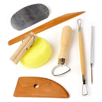 CLAY POTTERY TOOL KITS 8 PC SET Ceramics Wax Carving Sculpting Molding