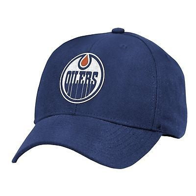 NHL Edmonton Oilers Basics Structured Adjustable HAT OSFM Blue