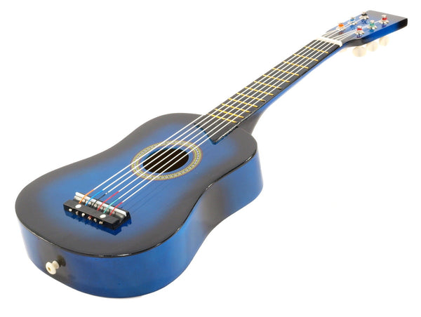 "25"" Children's Kids Toy Acoustic Guitar Blue with Bag and Accessories"