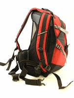 Outdoor Camping and Hiking Backpack - Orange, Black, and Red