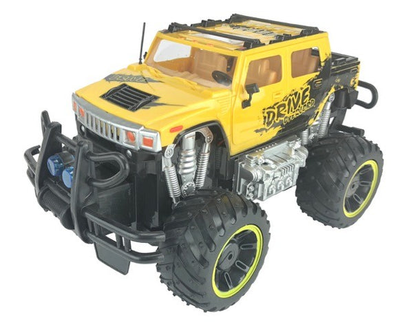 RC Hummer Truck Toy Remote Control, 1:12 Scale Electric Vehicle Off Road, Yellow