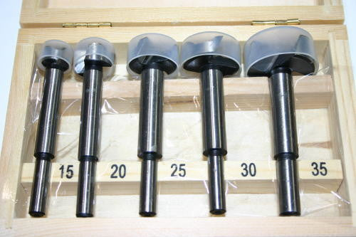 FORSTNER BITS - 15-35mm - 5 piece SET - Carbon