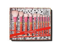 NEW Sonia Kashuk Limited Edition 10 Pc COLOR SHOCK Brush Set FREE Shipping