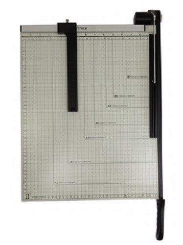 "PAPER CUTTER - 15"" x 12"" inch - METAL BASE TRIMMER NEW"