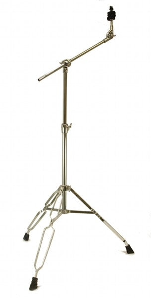 CYMBAL BOOM STAND 5' feet DOUBLE BRACED Chrome Percussion Dums Tripod NEW