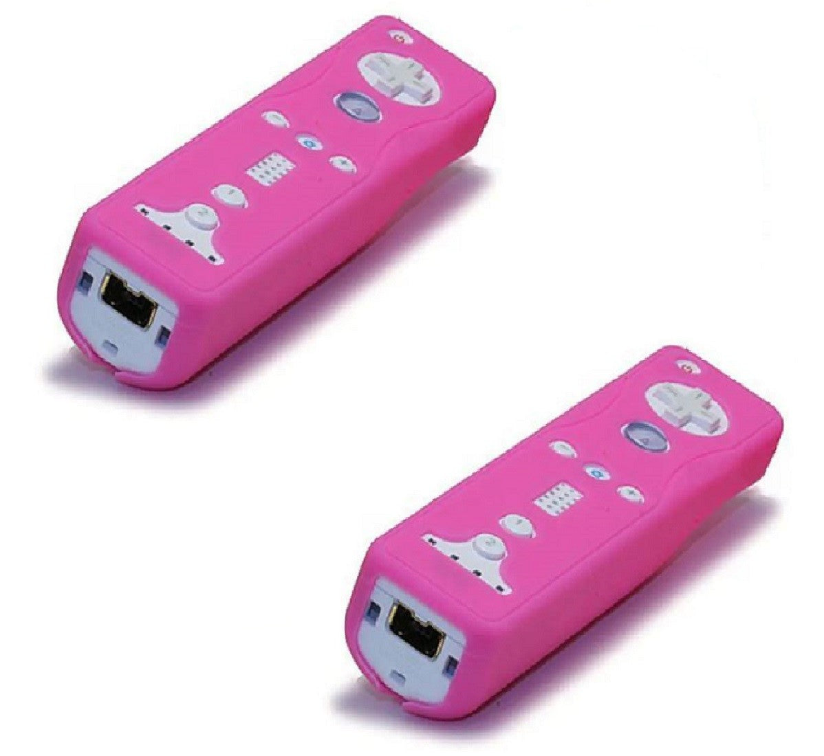 Wii LOT 2 - PINK - Silicone CASES - Nintendo WiiMotes