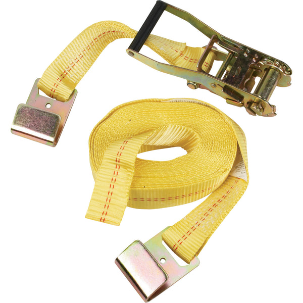 "RATCHET STRAP 2""x25' Flat-Hook HEAVY DUTY 10,000 lbs Semi Truck Tie Down Towing"