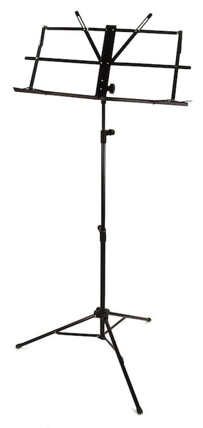 SHEET MUSIC STAND - MUSICAL SCORE NOTES TRIPOD Black Folding Carrying Bag NEW