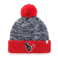 NFL Houston Texans Women's '47 Trytop Cuff Knit Hat with Pom, Navy