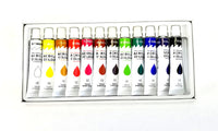 12 Color Acrylic Paint Set 12 ml Tubes Artist Draw Painting Rainbow Pigment