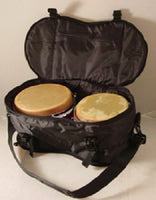 "BONGO BAG 7+8"" Pair - ROUNDED - Deluxe Padded Pockets Shoulder Strap TRAVEL GIG"