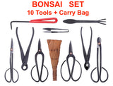 BONSAI 10pc Tool Set/Kit- Concave Cutter, Wire, Root Rakes, Shears and Trimmers