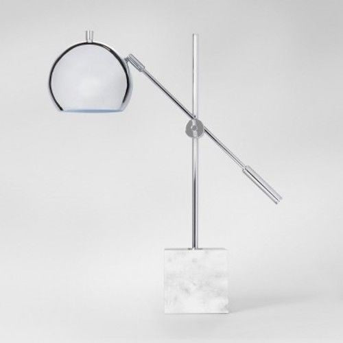 New Project 62 Marble Base Adjustable Task Lamp Silver with Rotable Shade