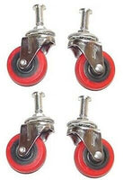 "4 Piece 2"" Replacement Caster Wheel for Creeper Swivel  Chrome Plated Mechanic"
