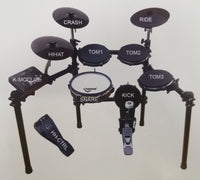 8 Piece DIGITAL DRUM SET with STAND Electronic Kit Quiet Mesh Rubber Heads NEW
