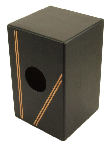"CAJON BOX DRUM Black Finish with Gig Bag Acoustic Drum FULL SIZE 19"" w/ Snare"