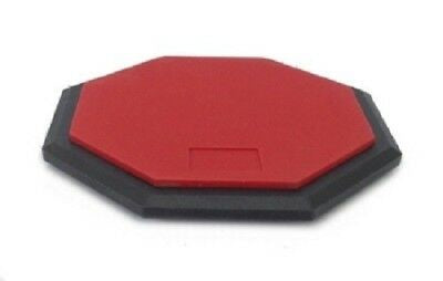 "8"" Practice Drum PAD Silent Rubber Foam Octagon Percussion Red"