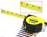 "Measuring Tape 25 FT by 1"" Retractable Thumb Lock Measure Carpenters Handy Tool"