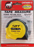 "Measuring Tape 12 FT by 1/2"" Retractable With Thumb Lock Measure Carpenters"
