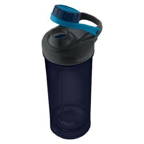 New! Contigo Shake & Go Fit Mixer Water Bottle, 28oz, Blue Free Shipping!