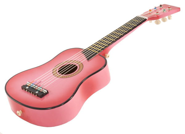"25"" Children's Kids Toy Acoustic Guitar Pink with Bag and Accessories"