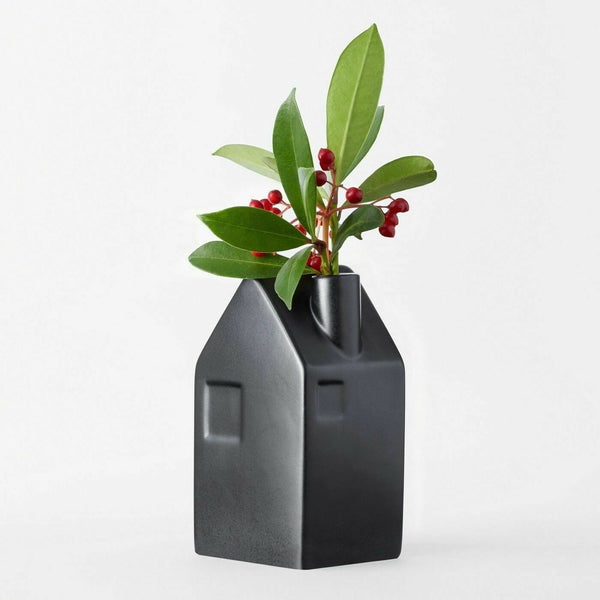 NEW! Hearth and Hand Magnolia Bud Vase Black Medium House Flower Arrangement