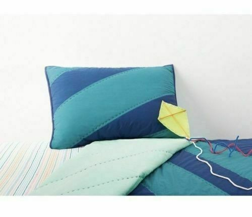Pillowfort Geo Line Water Colors Pillow Sham  Standard  Blue / Teal