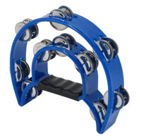 Double Row Metal Tambourine - Blue