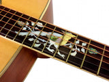 DREADNAUGHT ACOUSTIC GUITAR Art Deco Mother of Pearl BIRD INLAY Spruce