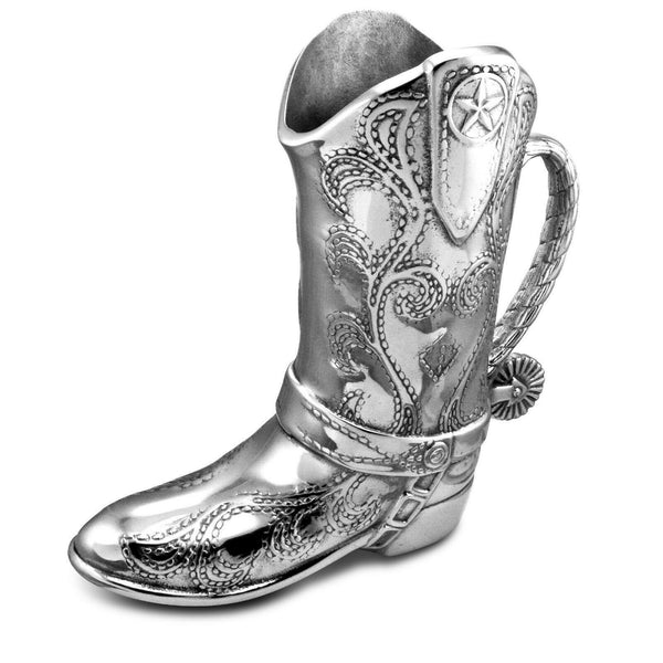 Cowboy Boot 2-Quart Beverage Pitcher Western Style Aluminum by Wilton Armetale