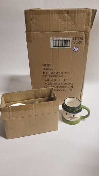 Bulk Purchase (Total Stock) of Earthenware Sculpted Snowman Mug 15.5oz Green/White - Threshold™