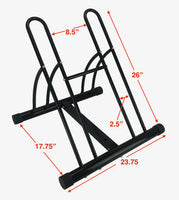 Large Bike Floor Storage Rack Stand Holder Cycle Bicycle School Outdoor Garage