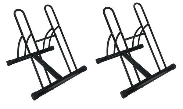 Set of 2 - Large Bike Floor Storage Racks Stand Holder Cycle Bicycle Garage