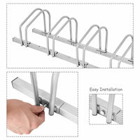 Set of two - 4 Bike Bicycle Stand Parking Garage Storage Organizer Rack Silver